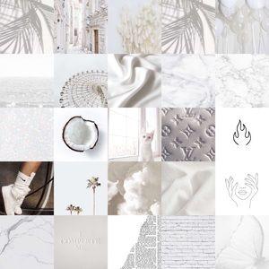 White photo wall kit.